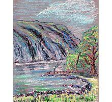 Lake district landscape pastel sketch Photographic Print