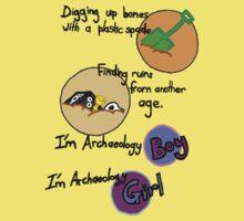 Archaeology Boy, Archaeology Girl Kids Tee