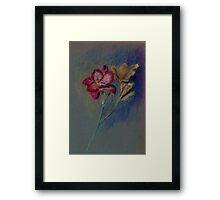 Flower-pastel sketch Framed Print