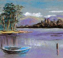River landscape-pastel sketch by ChrisNeal