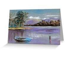 River landscape-pastel sketch Greeting Card