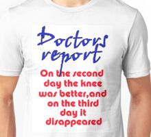 THE DISAPPEARING KNEE Unisex T-Shirt