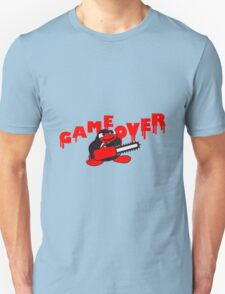 Game Over Chainsaw Penguin T-Shirt