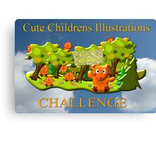 Cute Childrens Illustrations - Top 10 Banner Canvas Print