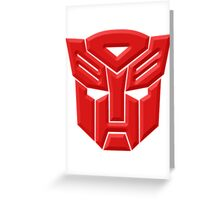 Autobot Greeting Card