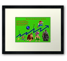 Business growth meets evolution Framed Print