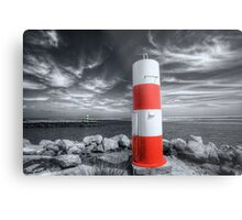 Port or Starboard Colourised Metal Print