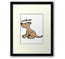 Dog wants a Cookie Framed Print