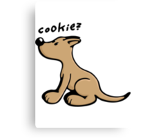 Dog wants a Cookie Canvas Print