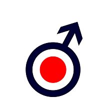 A mod target cover in white iPhone case by chalkyscoot