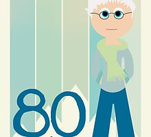 Happy Birthday - 80th Birthday, Male by Emma Holmes