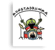 Monster Drummer Canvas Print