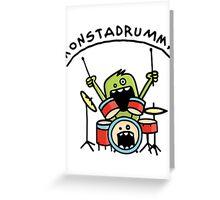 Monster Drummer Greeting Card