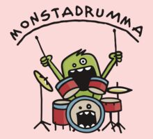 Monster Drummer Kids Tee