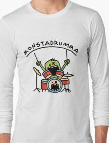 Monster Drummer Long Sleeve T-Shirt