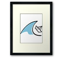 Sailboat in the Waves Framed Print