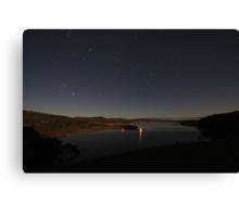 Lake Tantangara under moonlight Canvas Print