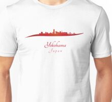 Yokohama skyline in red Unisex T-Shirt