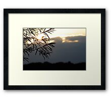 Here Comes The Storm Framed Print
