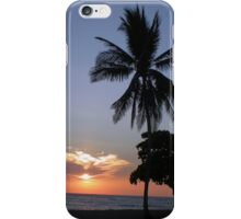 Costa Rican Sunset With Palm iPhone Case/Skin