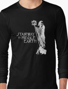 stairway to middle-earth Long Sleeve T-Shirt