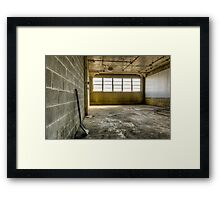 Empty, almost Framed Print