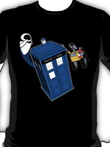 Tardis Space Dance - Wall-e & Eve T-Shirt