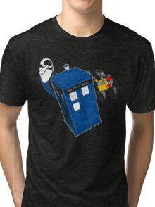 Tardis Space Dance - Wall-e & Eve Tri-blend T-Shirt