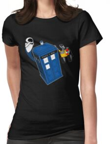 Tardis Space Dance - Wall-e & Eve Womens Fitted T-Shirt