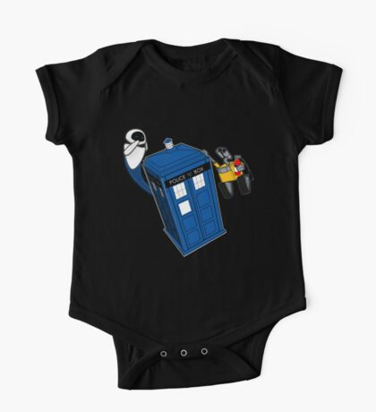 Tardis Space Dance - Wall-e & Eve One Piece - Short Sleeve