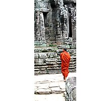 Monk at Temples, Cambodia Photographic Print