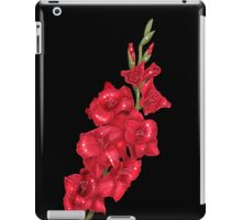 Red Gladiolus on Black iPad Case/Skin