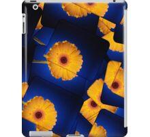 Yellow Gerbera On Blue iPad Case iPad Case/Skin