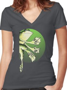 Frogger Women's Fitted V-Neck T-Shirt