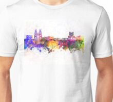 York skyline in watercolor background Unisex T-Shirt