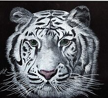 White Tiger by Linda Ginn Art