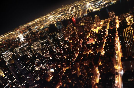 NY - view from empire state, tilt-shift by thefifthAce