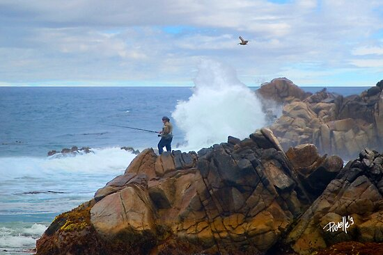 Fishing Dragon's Head - Pacific Grove, CA by JimPavelle