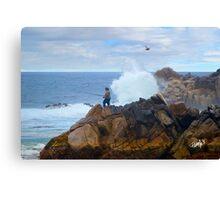 Fishing Dragon's Head - Pacific Grove, CA Canvas Print