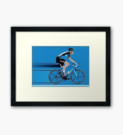 Bradley Wiggins Team Sky Framed Print