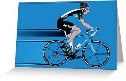 Bradley Wiggins Team Sky by Andy Scullion