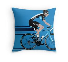 Bradley Wiggins Team Sky Throw Pillow