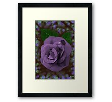 ☀ ツ A LITTLE ROSE BUD INSIDE A ROSE BLOWING BUBBLES☀ ツ Framed Print