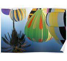 Hot Air Balloon Refection Poster