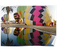 Hot Air Balloons Refection Poster