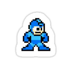 Megaman surrounded 1 Sticker
