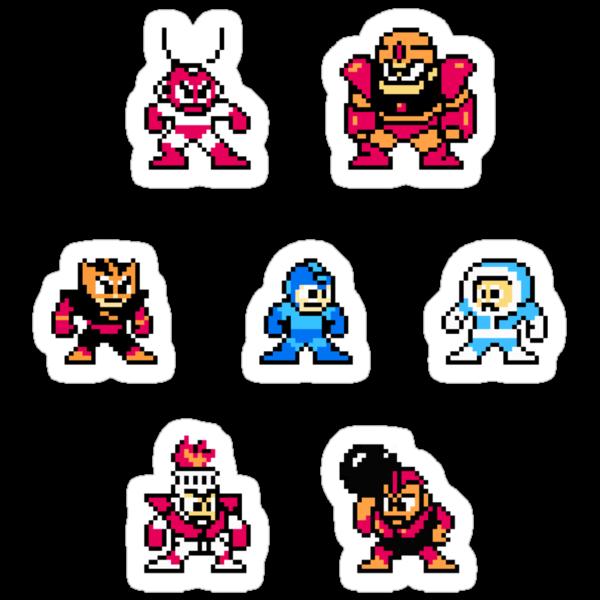 Megaman surrounded 1 by Funkymunkey