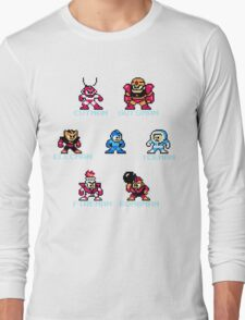 Megaman surrounded 1 with text Long Sleeve T-Shirt