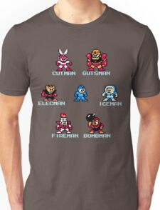 Megaman surrounded 1 with text Unisex T-Shirt