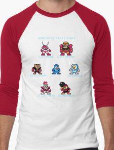 Megaman Who will you fight Men's Baseball ¾ T-Shirt